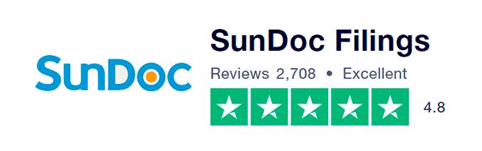 SunDoc Filings Customer Reviews TrustPilot